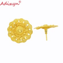 Adixyn Thinner Stud Earrings For Women Gold Color/Copper Fashion Jewelry Party/Birthday Gifts N02208