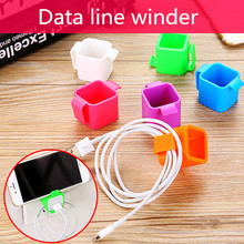 50PCS Colorful Cable Wire Organizer drop Clip Tidy USB Charger Plug Cord Holder Fixed clamp For iPhone 5 5s 6 6s 7