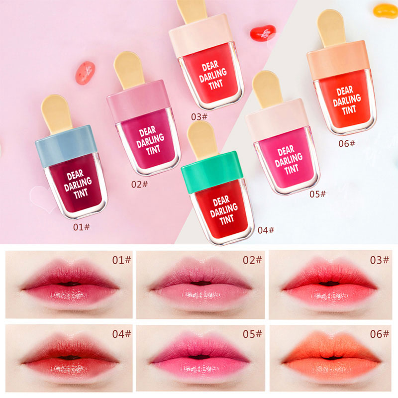 Cute Ice Cream Lip Tint Makeup Korean Style Red Liquid Matte Lipstick Pigment Nude Lasting Moisturizer Lipgloss Cosmetics