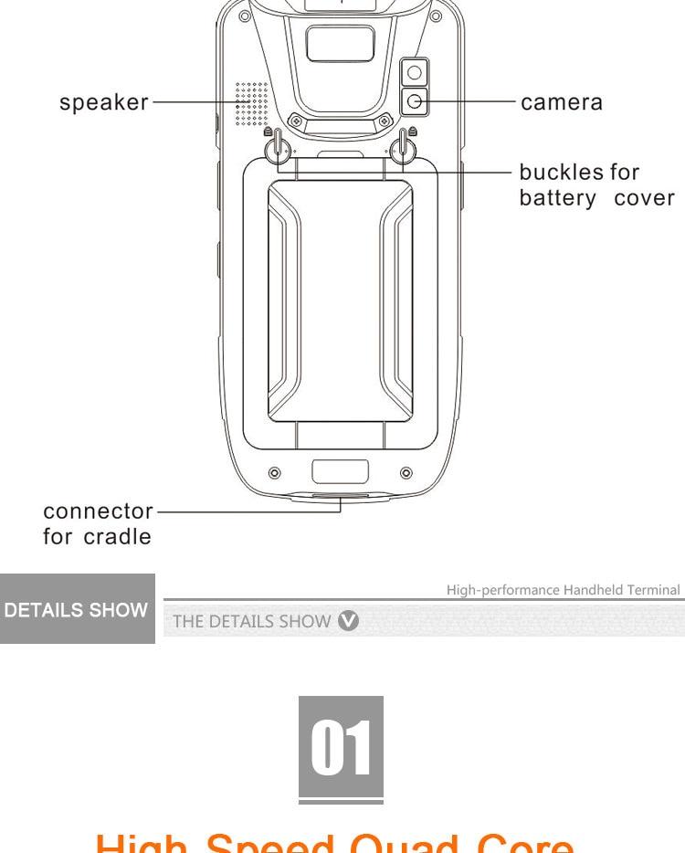 barras pda android terminal de dados portátil estilo smartphone