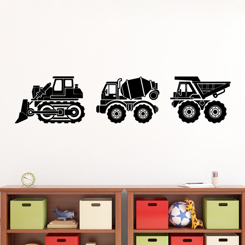Safari Animal Nursery Jeep Decal Neutral Baby Wall Art Mural Stickers Kids Room