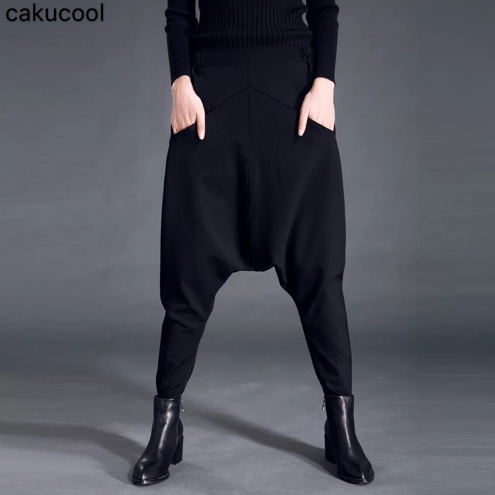 Cakucool 2019 spring and autumn ladies casual large size harem pants hanging pants slim pants squirrel