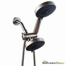 Ванная комната 5 установка для душа двойной ручной душ и 3 разъемы переключающий клапан комбинированный 03 — 203