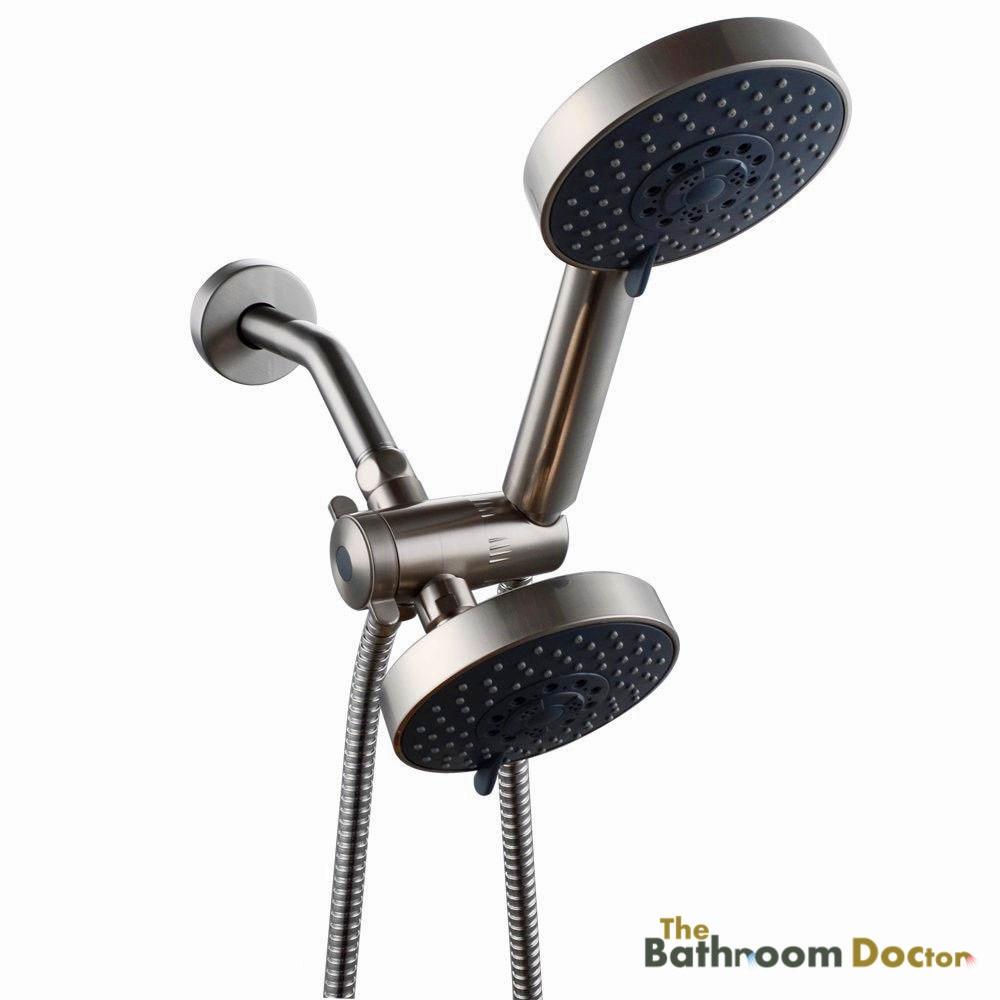 ᗛBathroom 5 Setting Shower Head Double Handheld Shower Head & 3 ...