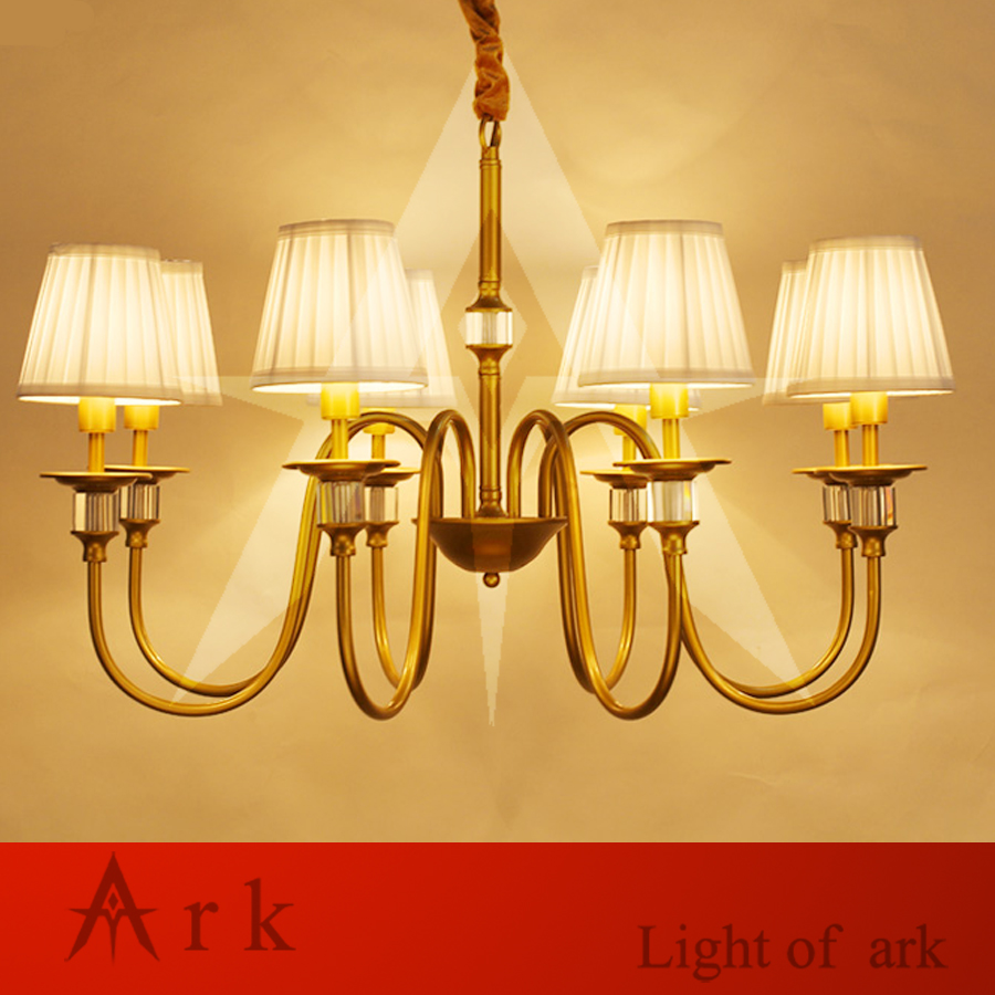 ARK LIGHT Vintage Rural style pendant light american 8 heads iron led pendant lamp cottage dining room  living room study room