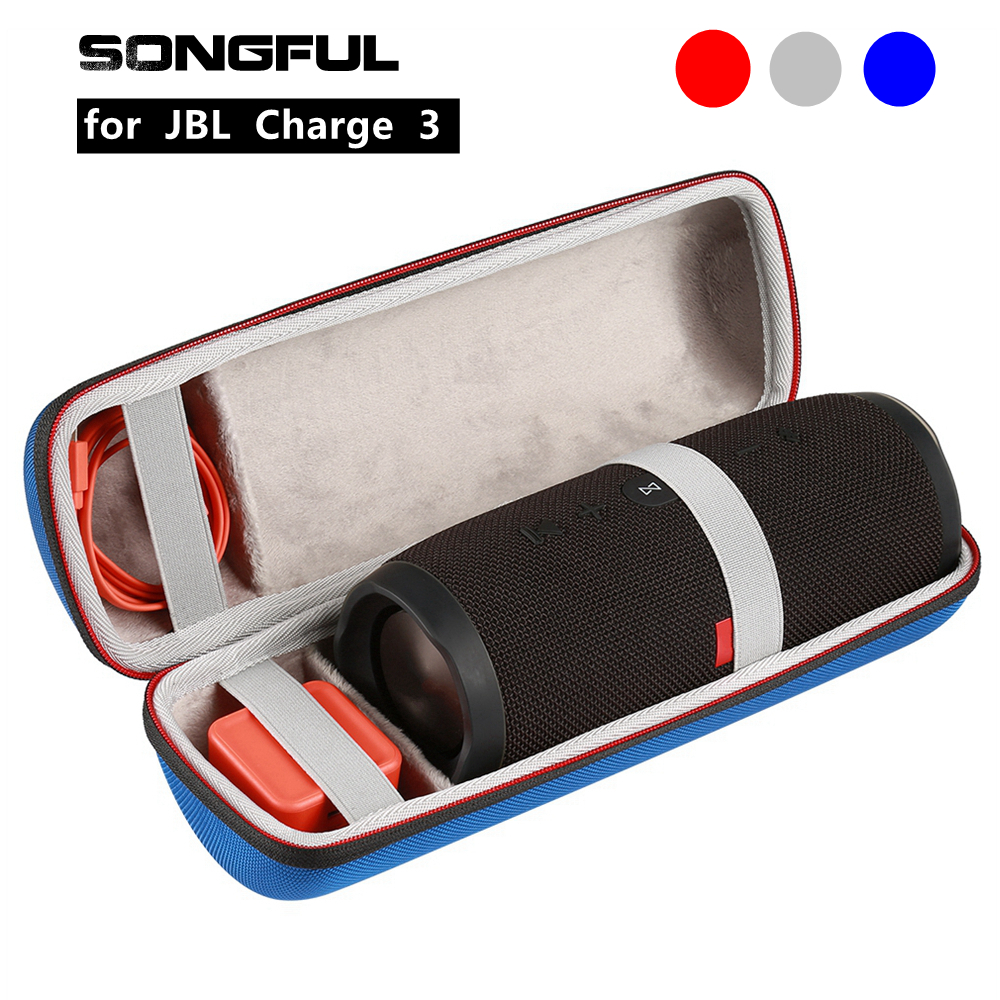 все цены на Column Speaker Case Cover for JBL Charge 3 Wireless Bluetooth Speaker Charge3 Soundbox Portable Pouch Storage Box Protective Bag онлайн