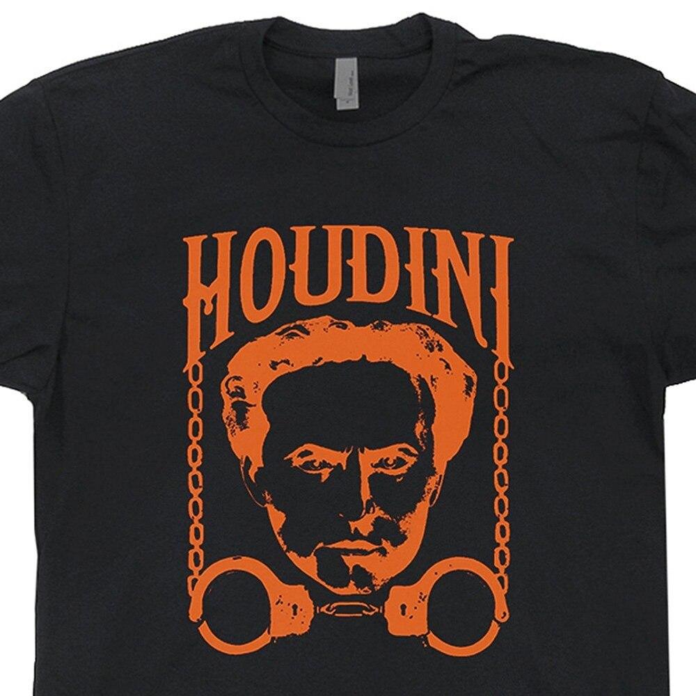 Harry Houdini T Shirt Magic Magician Tricks poster Las Vegas graphic Mens Shirts Men Clothes Novelty Cool