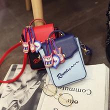 Women shoulder bag printing cartoon mobile phone bag Messenger bag fashion mini – wallet