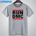 2016 nuevo estilo del verano marca moda hombres T-shirt RUN DMC camiseta hombres Run-D.M.C Hip Hop Tshirt Top Tees con manga corta