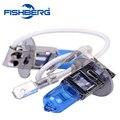 2 Pcs 12 V 55 W H3 Lâmpada Do Farol Xenon Azul Escuro Vidro substituição H3 Carro lâmpada de Halogéneo Luz Super Carro Branco Levou lâmpada