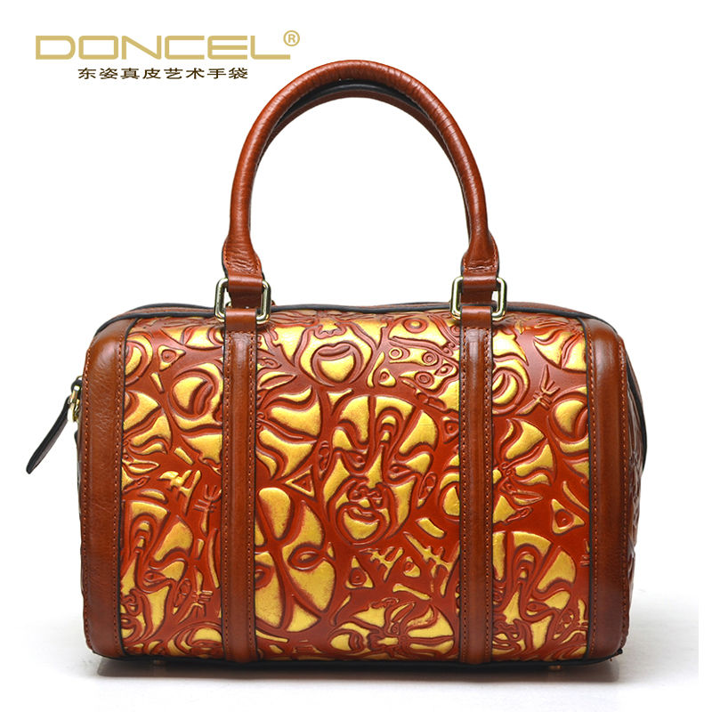 Designer women leather handbags high quality woman bag 2017 ladies hand bags real cow genuine leather chinese style boston bag donghong real cow leather ladies hand bags women genuine leather handbag shoulder bag hign quality designer luxury brand bag