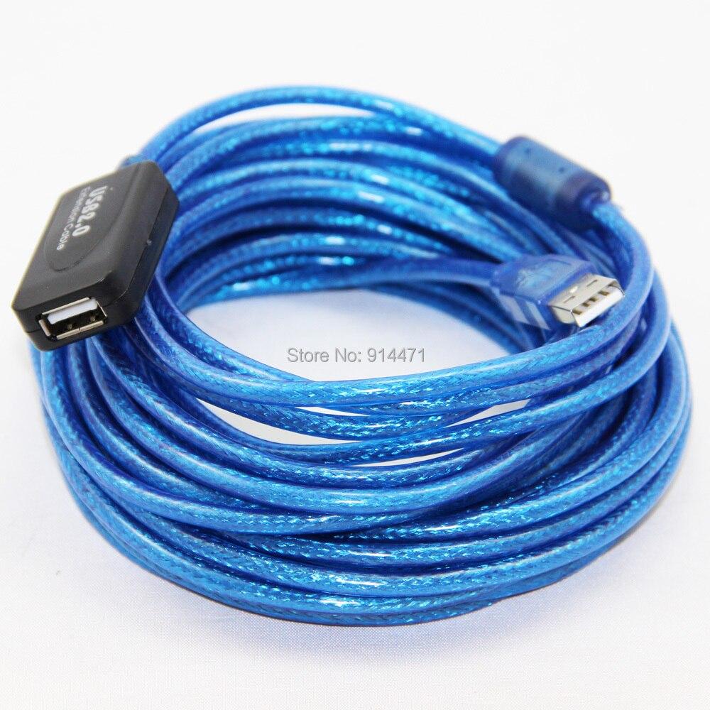 10 M 33ft USB 2.0 Câble D'extension USB Mâle à Femelle Double Blindage (Feuille + Tressé) Active Booster puces Haute Vitesse Transmission