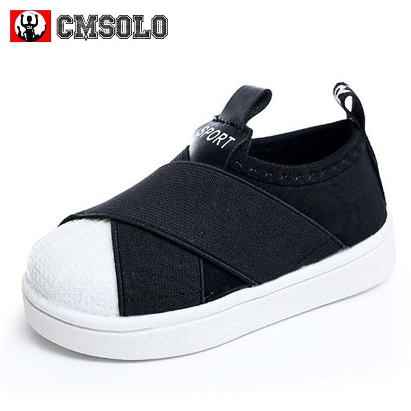 CMSOLO 2017 kinder Schuhe Für Jungen Mädchen Elastische Tuch Freizeitschuhe Kinder Baby Mode Sneaker Einzelne Stretch Stoff Slip-on