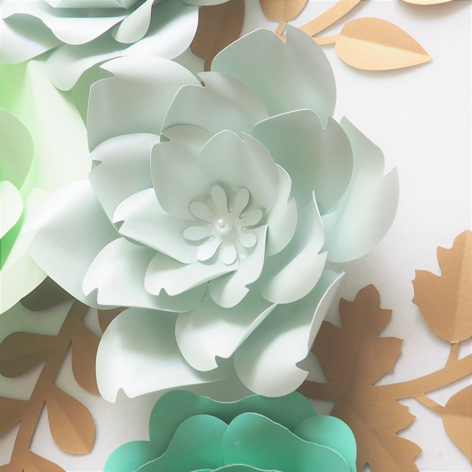 Diy Giant Paper Flowers Backdrop Artificial Handmade Green Paper
