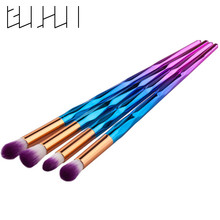 4Pcs Eyeshadow Brush Set Professional Gradient Rainbow Brush Make Up Tools Nude Smoky Makeup Brushes for Women Beauty Cosmetic