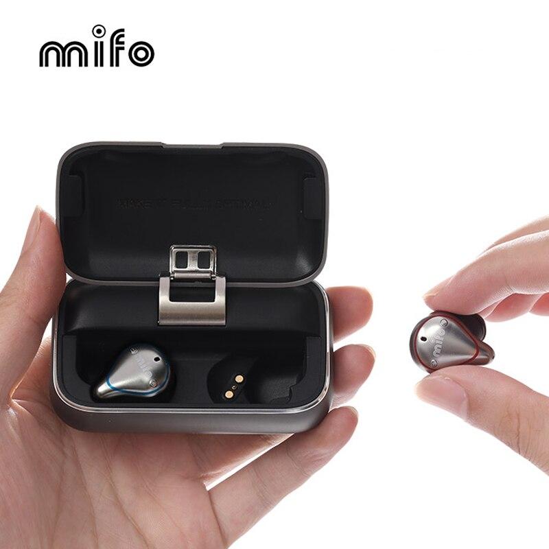 Mifo O5 Bluetooth 5.0 casque d'écoute sans fil IPX7 bouchon d'oreille étanche Microphone intégré son stéréo écouteurs Bluetooth