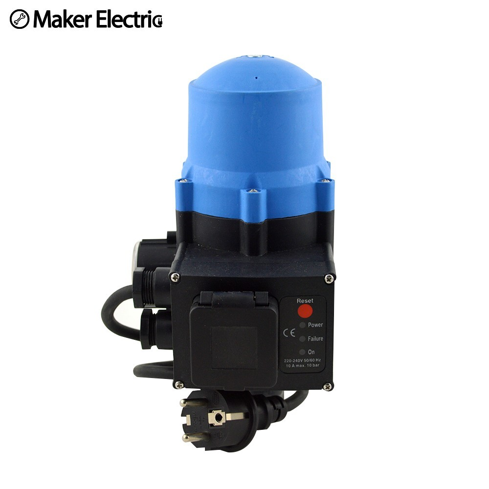 Automatic Electronic Water Pump Pressure Switch Adjustable Wiring An Mk Socket Control Wpps12 With The Plug Wires