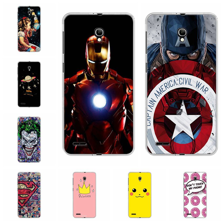 Ample Captain America Cases Coque For Alcatel One Touch Pop 2 7043 <font><b>7043Y</b></font> Case Cover For Alcatel Pop 2 7044X Fundas Back Cover 5