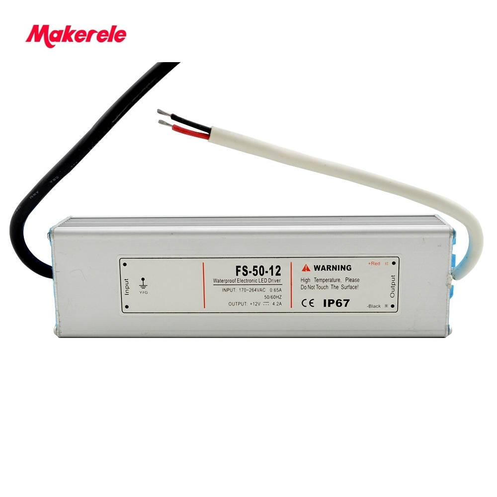 waterproof led 5v 12v  24v  36v 50w Voltage Transformer Switch Power Supply for Led Strip Led control Led switch LED display high voltage flyback transformer for co2 50w laser power supply
