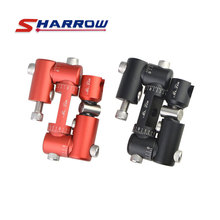 цена на 1pc Archery V Bar Adjustable Double Sided V Bar Compound Bow Adapter Shock Absorption Damper Stabilizer Shooting Accessory