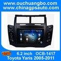 Ouchuangbo Стерео Автомагнитолы видео радио для Yaris 2005-2011 Черный Серебристый выбрать Бесплатная Кении 2015 Карта wince 6.0 системы