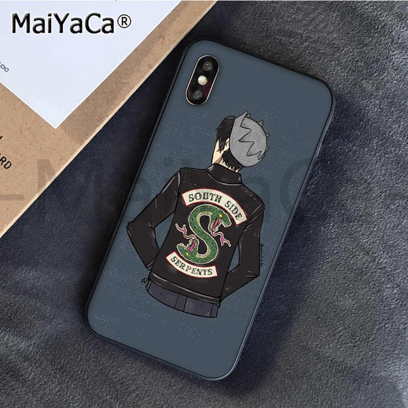 MaiYaCa Riverdale South Side Serpents Newly Arrived Black Cell Phone Case for Apple iPhone 8 7 6 6S Plus X XS MAX 5 5S SE XR
