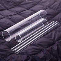 5pcs High borosilicate glass tube,Outer diameter 17mm,Full length 180mm/200mm/250mm/300mm,High temperature resistant glass tube