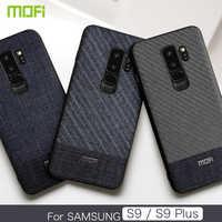 Per Samsung S9 Caso Per Samsung S9, più Copertura del Panno del Tessuto Per Samsung S9 S9P di Caso di Affari di Colore Scuro Artigianato signore Caso