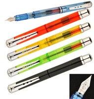סט של עט נובע ציפורן EF + 6 מחסניות דיו עטי חתימת WingSung 9130 משלוח + אריזת קופסא הפלסטיק שקופה חינם