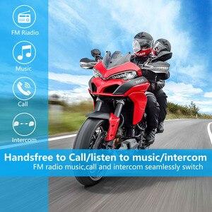 Image 5 - Fodsports 2 pcs FX8 Helmet Intercom Motorcycle Bluetooth Helmet  Headset 8 Rider 1000m Moto Interphone Intercomunicador FM