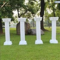 European Style hollow out artificial Roman Columns Plastic Pillars Road Cited Wedding Props Event Decoration Supplies 2 pcs/lot