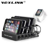 VOXLINK 6 Port USB Charging Station Charger Hub 60W 12A Multiple USB Charger Desktop Fast Charging