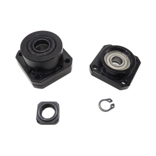1 pcs FK10 Fixed Side +1 pcs FF10 Floated Side for SFU1204 Ballscrew CNC parts ball screw 1204 fk/ff10 end support