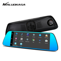 MT8382 3G 7 Car DVR Mirror Camera Android 5 0 WIFI GPS 1080P Video Recorder Touch