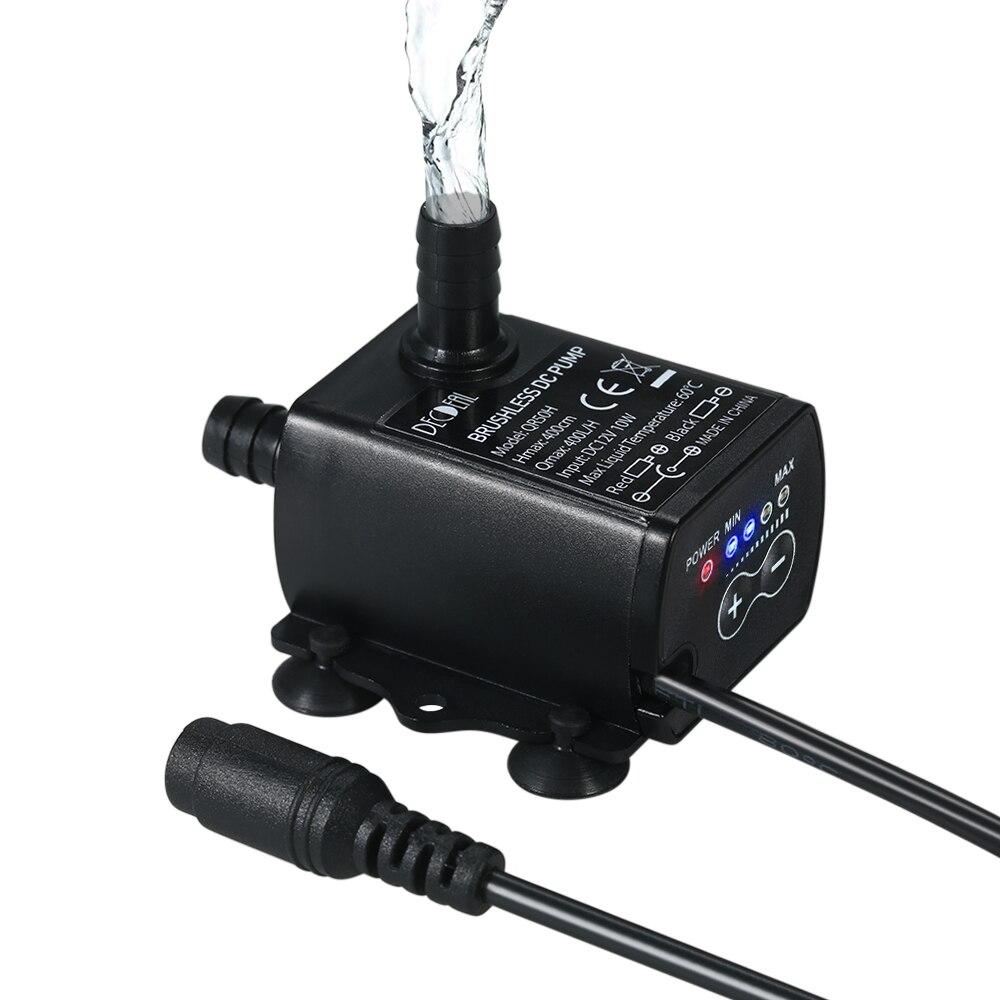 MXECO DC 12V 240L//H Submersible Water Electric Pump Mini Ultra Quiet Black Pump Mechanical Hardware Aquarium Pro Water Pump