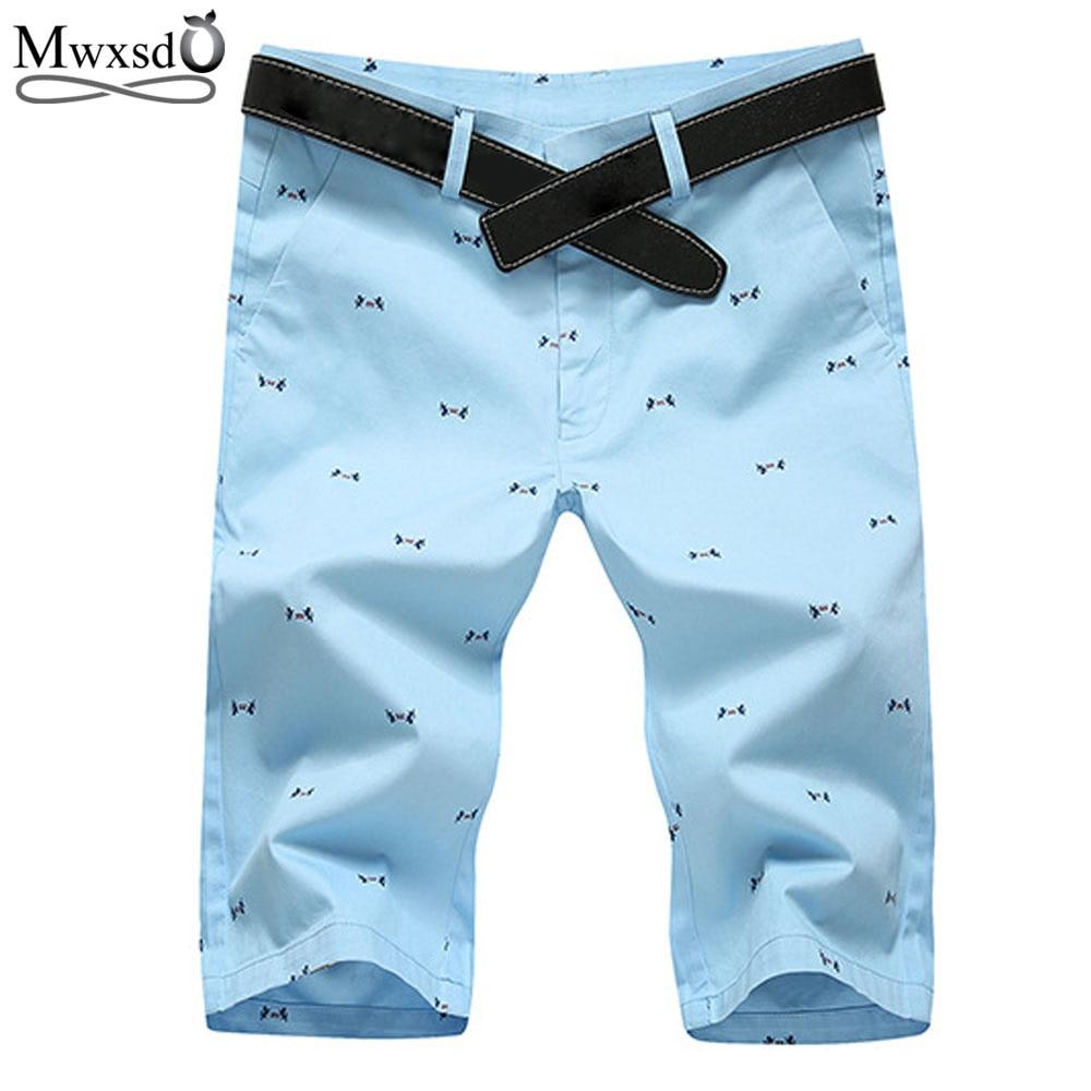 Mwxsd marca 2019 moda masculina verão shorts retos casuais bermuda masculina impressão casual praia shorts