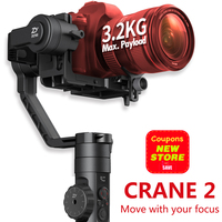 Zhiyun Crane 2 3 Axis Handheld Gimbal Camera Gyro Stablizer For Canon Nikon Sony Panasonic LUMIX