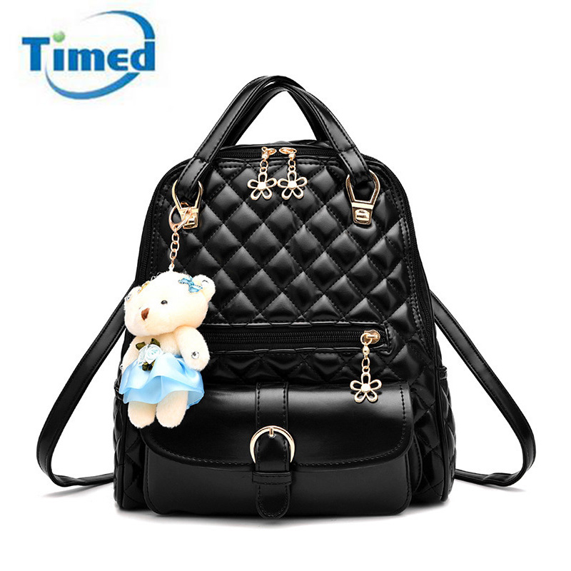 Preppy Style Backpack For Teenagers Girls Animal Cute Bear Children School Backpack Kids Women Casual Travel