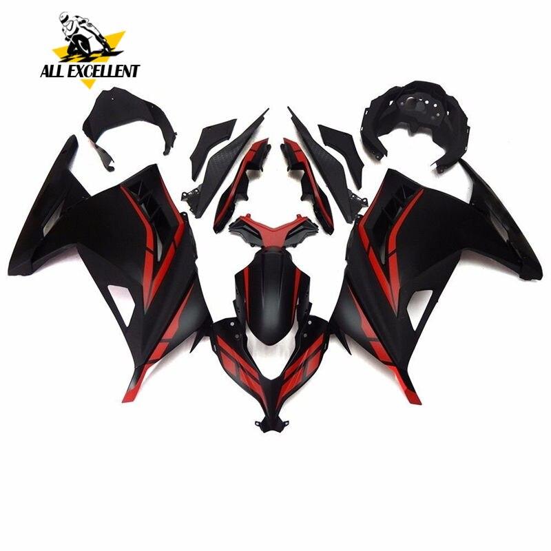 Unpainted White ABS Bodywork Fairing Kit For KAWASAKI NINJA250 2013-2015 14
