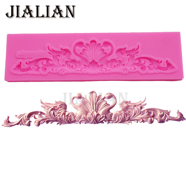 Forma di cigno lace border stampo in silicone torta che decora gli attrezzi form