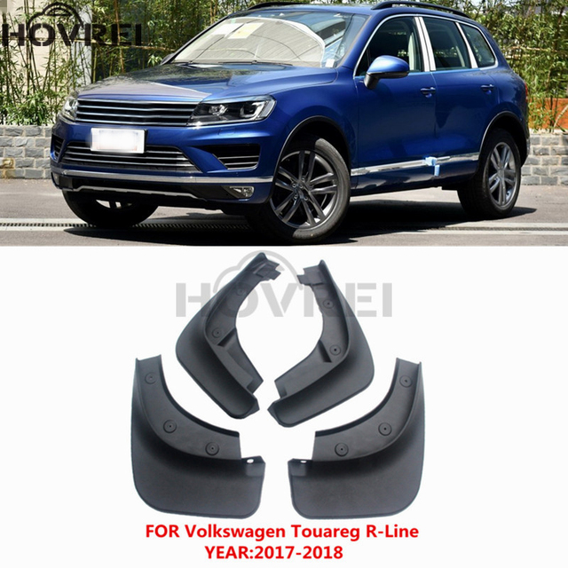 4pcs Set Car Mud Flaps For Volkswagen Vw Touareg R Line 2017 2018 Mudguard Mudflaps Splash Guards