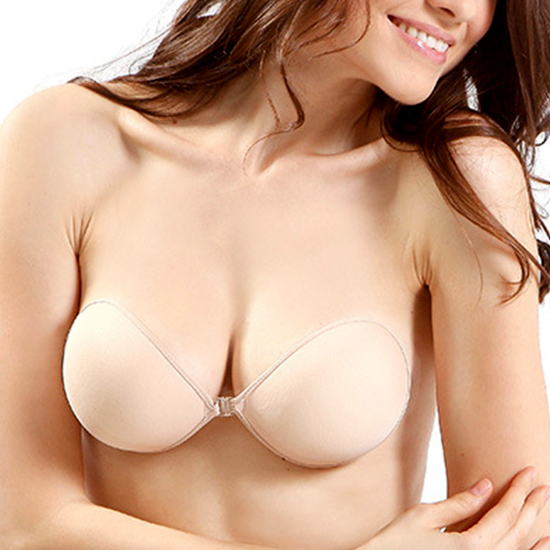 86295ca9c6 Sexy Women Invisible Push Up Bra Self-Adhesive Silicone Bust Front Closure sticky  bra Backless Strapless Bra