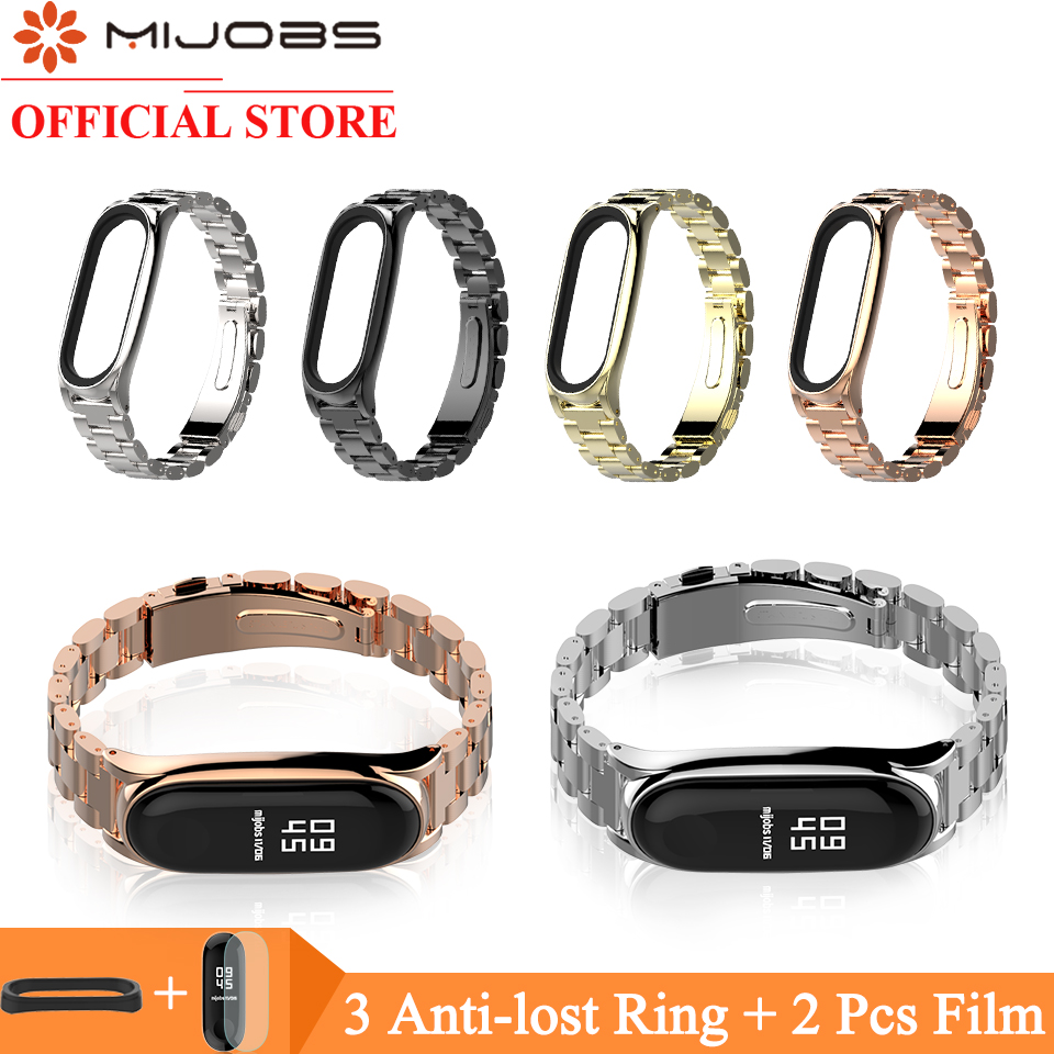 xiaomi mi band 2 screwless stainless steel strap miband 2 metal wrist strap bracelet for mi band2 smart wristbands accessories Mijobs Mi Band 3 Metal Wrist Strap For Xiaomi Mi Band 3 Bracelet Screwless Stainless Steel Miband 3 Wristbands Mi 3 Wrist Band