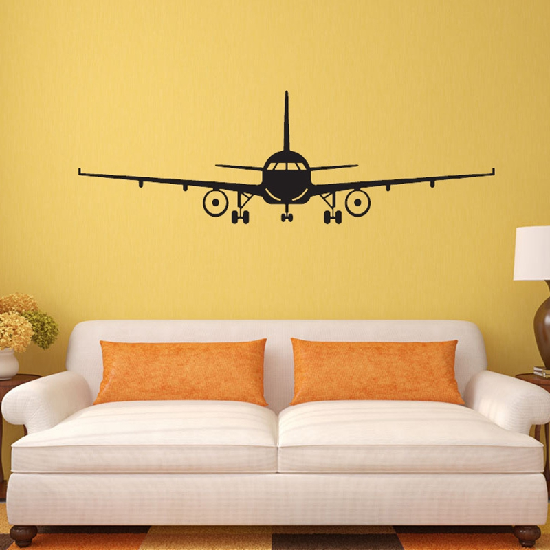 Airplane Pattern poster Wall Sticker PVC Home Decoration Pegatinas De Pared Mural Arts 4 size CP0447