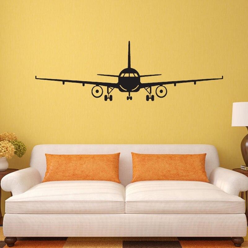 Avion motif affiche mur autocollant PVC décoration De la maison Pegatinas De Pared Mural Arts 4 taille CP0447