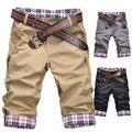 2015 Verano Nueva moda slim fit hombres shorts Alta Calidad confort color caramelo causal pantalones cortos de La Venta Caliente