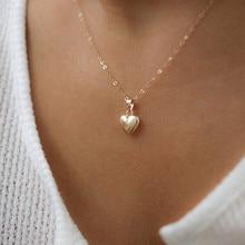 KISSWIFE модное ювелирное изделие глянцевое ожерелье с подвеской в виде сердца ожерелье для ключицы для женщин подарок для девушек милое/романтическое колье ювелирное изделие
