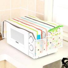 3pcs/set Oil-proof  Waterproof Oven Covers Microwave Cover with 2Pouch Dustproof Cotton Cloth Kitchen Home Decoration