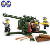 Een Speelgoed Een Droom Enlighten1704 Stad SWAT Serie Militaire Hoge Grond Luchtafweergeschut Bouwsteen Compatibel Met Lepin