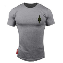 2018 Mens Brand gyms t shirt Fitness Bodybuilding Fashion Slim Cotton Shirts Men Short Sleeve workout male Casual Tees Tops